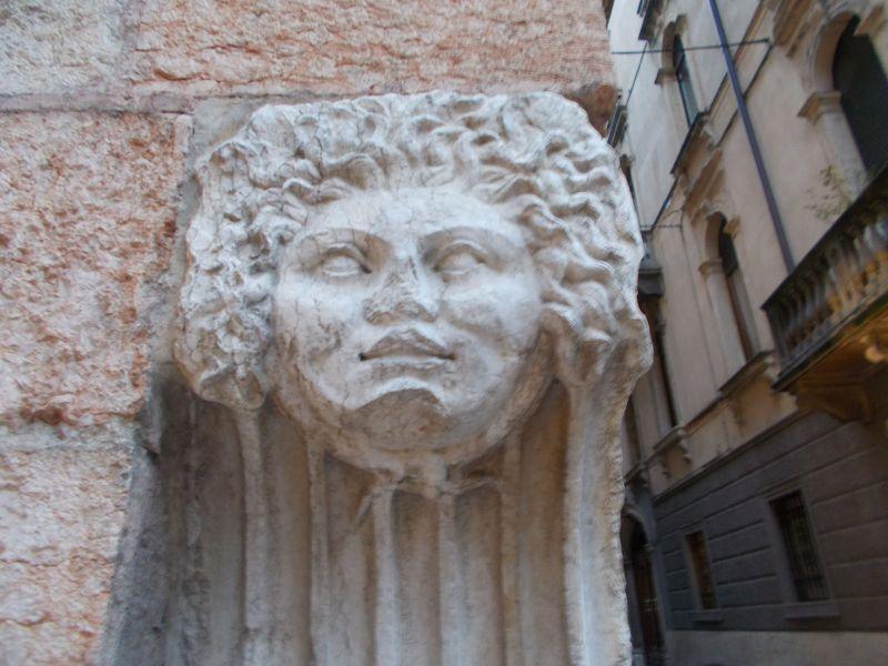 Sculpture on a Verona Wall. - Verona