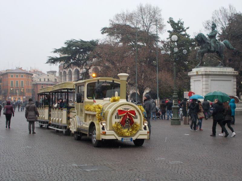 Train and Statue. - Verona