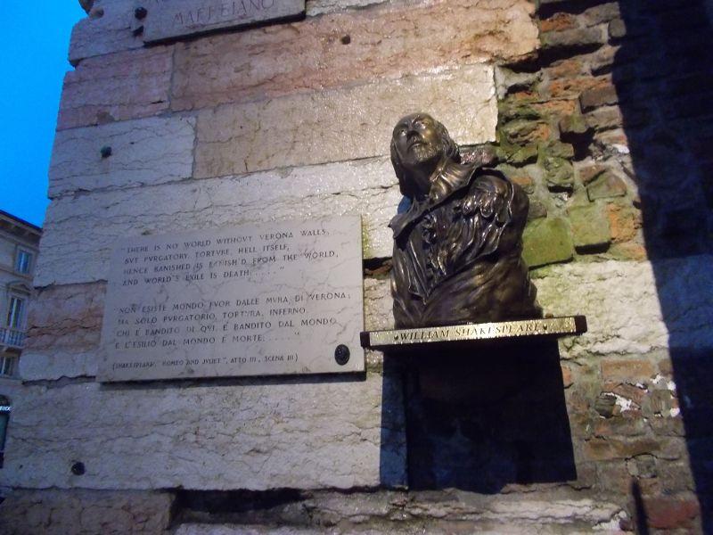 Bust of William Shakespeare. - Verona