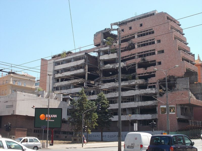 Bombed out buildings - Belgrade