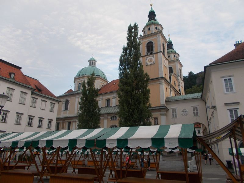 The Cathedral and Market - Ljubljana