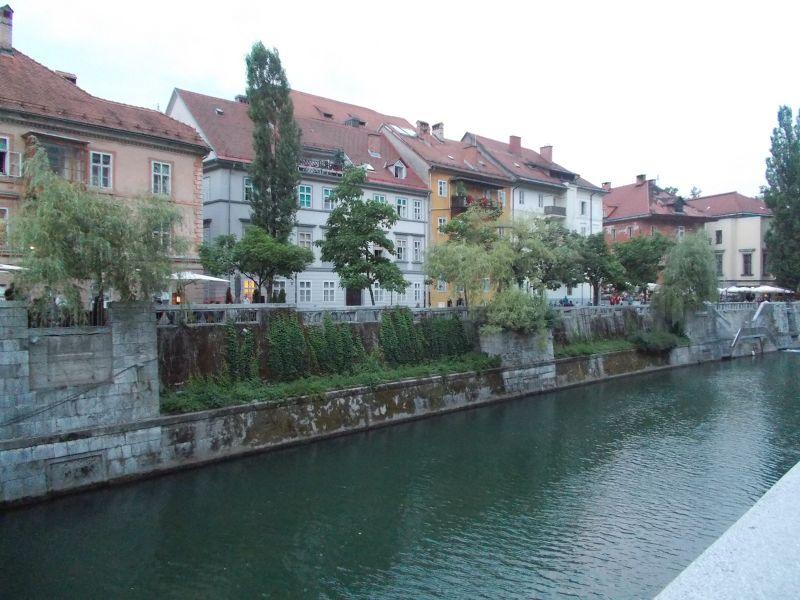 View over the river. - Ljubljana