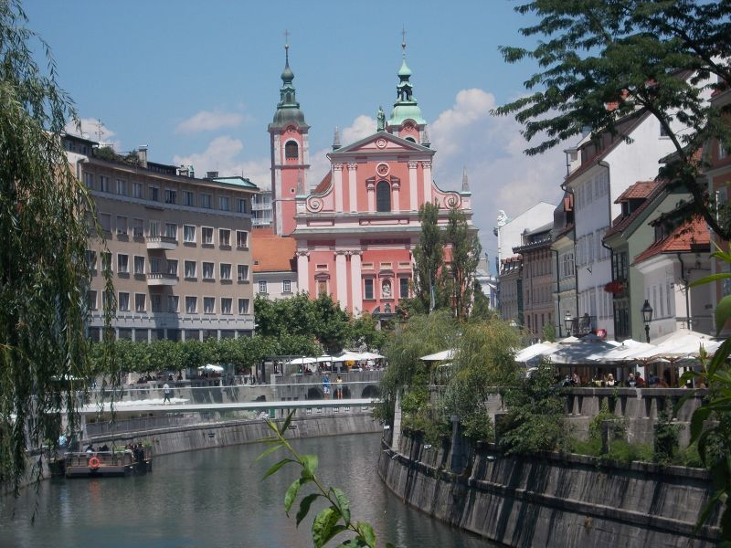 Views along the river - Ljubljana