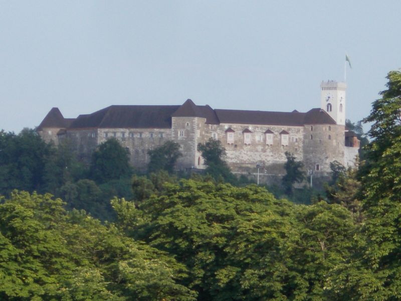 Fortress with zoom. - Ljubljana