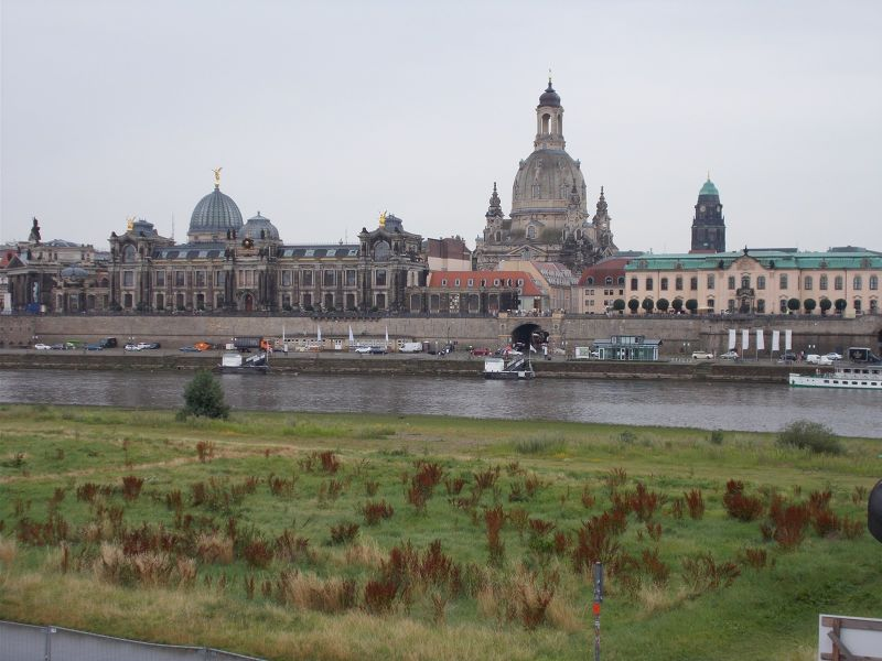 View over the old town of Dresden. - Dresden