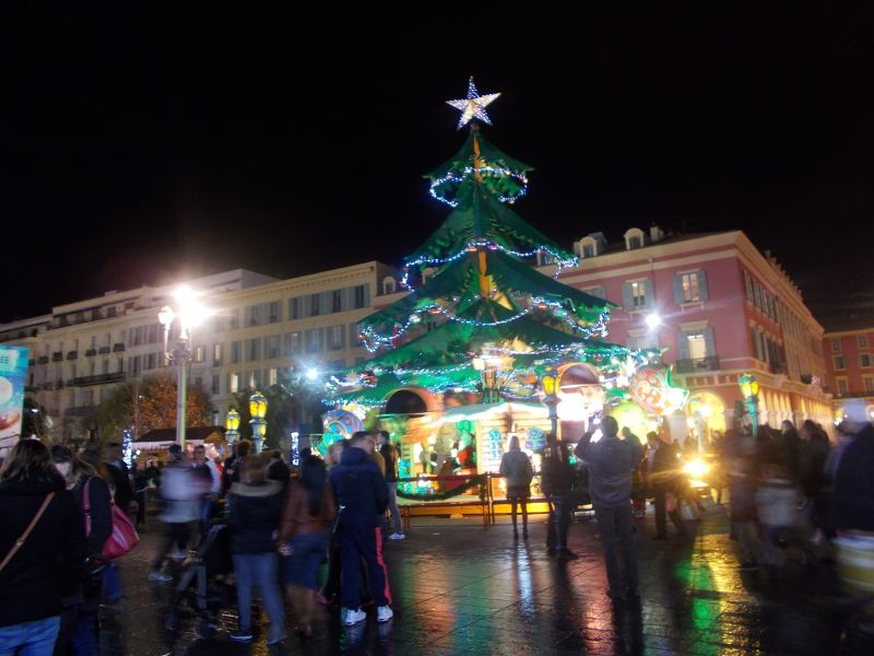 The Christmas tree. - Nice