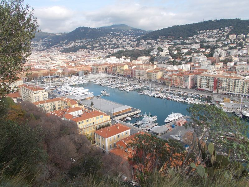 The view over the Port of Nice. - Nice