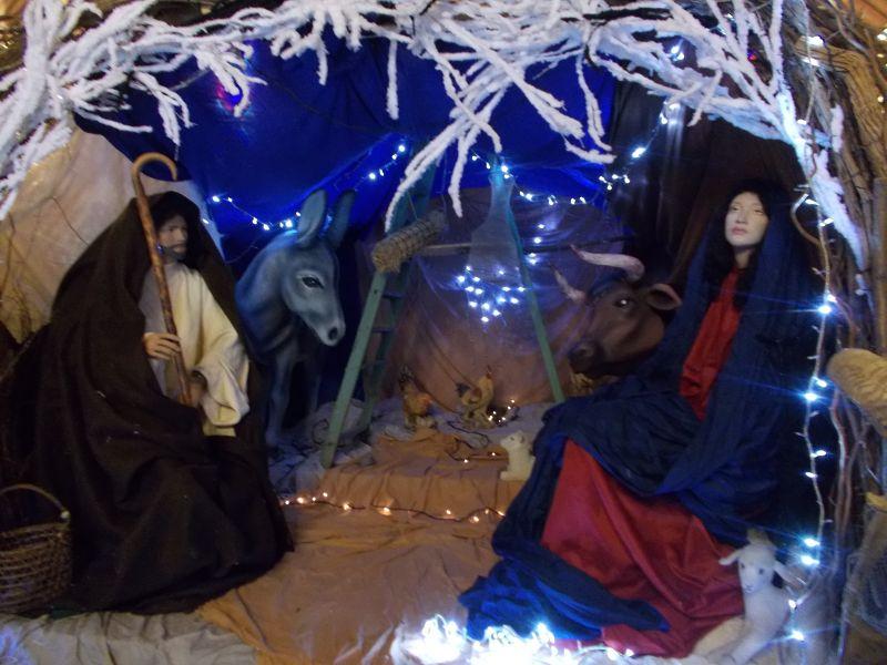 Nativity scene in the chapel. - Nice