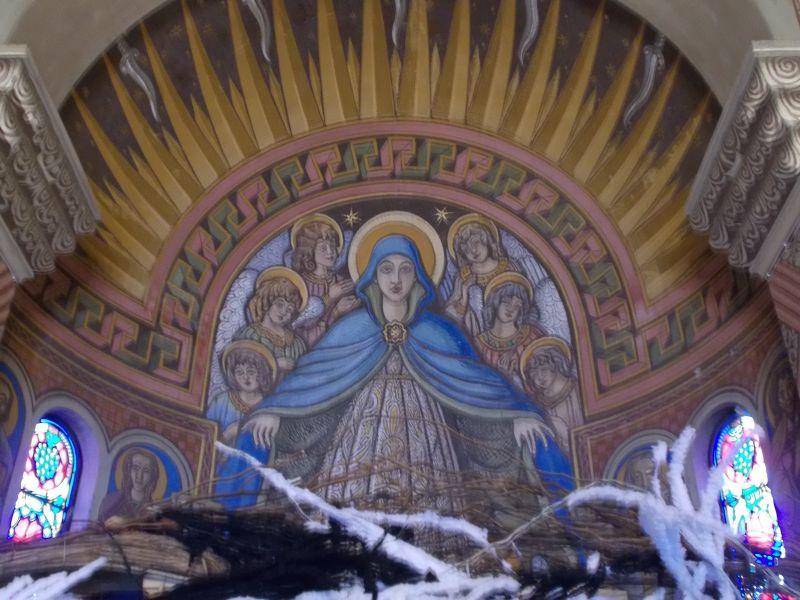 Art in the chapel. - Nice