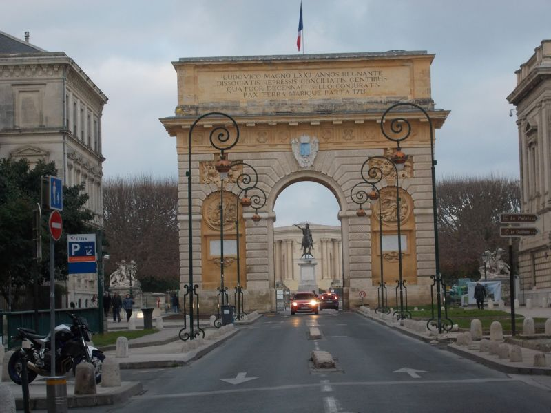The Porte de Peyrou. - Montpellier