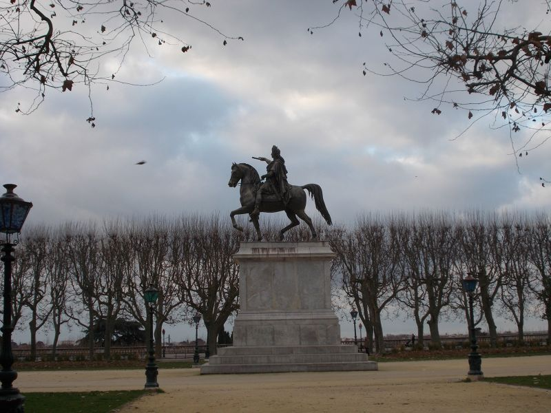 Statue of King Louis XIV. - Montpellier