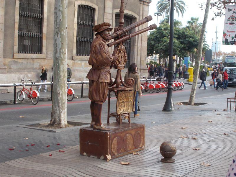 Street Statue on La Rambla. - Barcelona