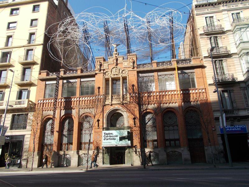 The Fundació Antoni Tàpies. - Barcelona