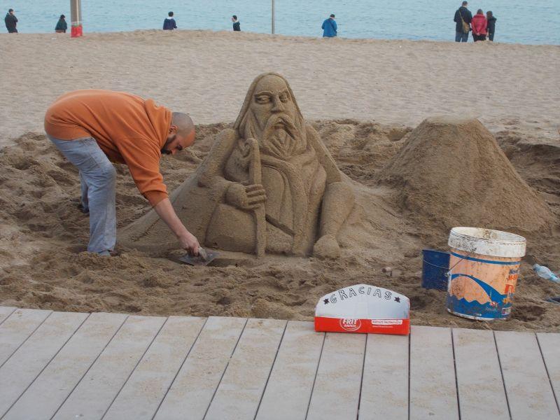 Sand sculpture, Barceloneta - Barcelona