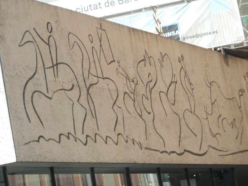Flag frieze. - Barcelona