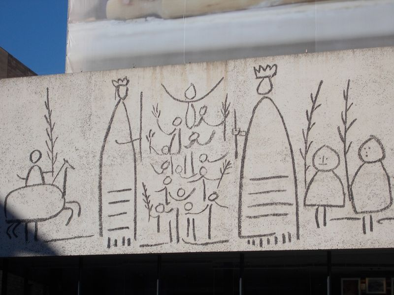Giants frieze. - Barcelona
