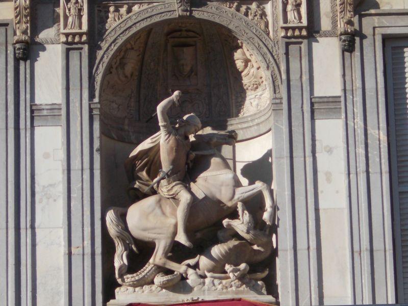 Plaça Sant Jaume. - Barcelona