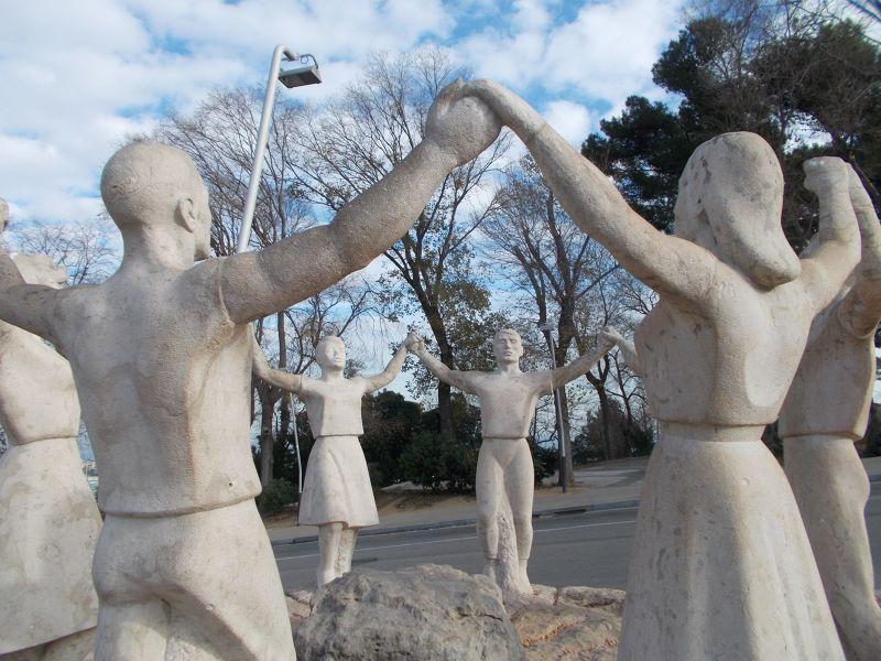 Sardana Dance Statue - Barcelona