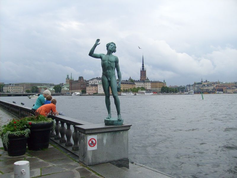 Song Statue in front of the City Hall - Stockholm
