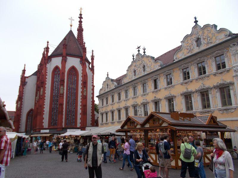 Peter at the market. - Würzburg