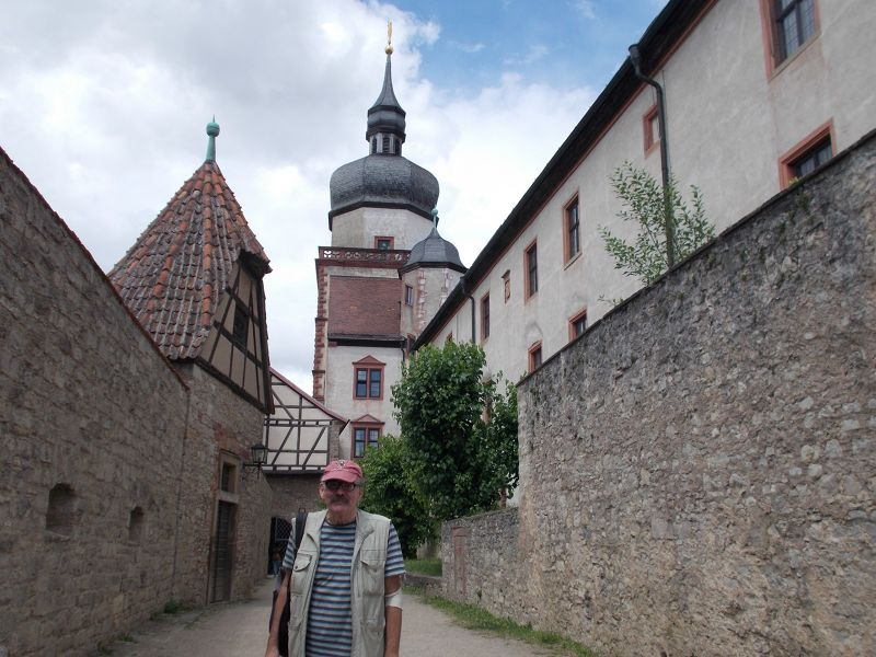 Peter at the fortress. - Würzburg