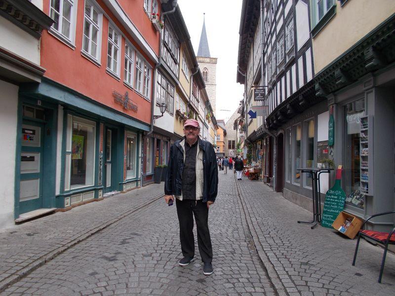 Peter on the Krämerbrücke  - Erfurt
