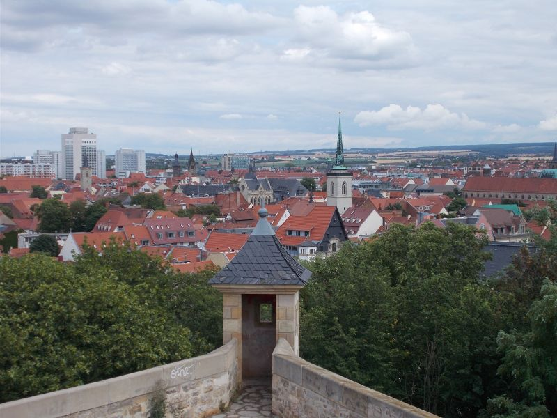 Citadel and view. - Erfurt