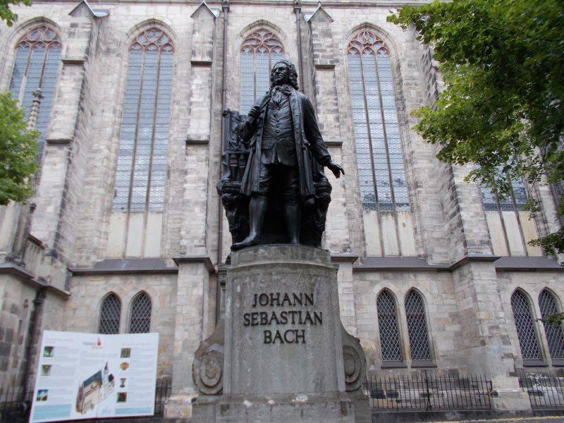 Bach statue. - Leipzig