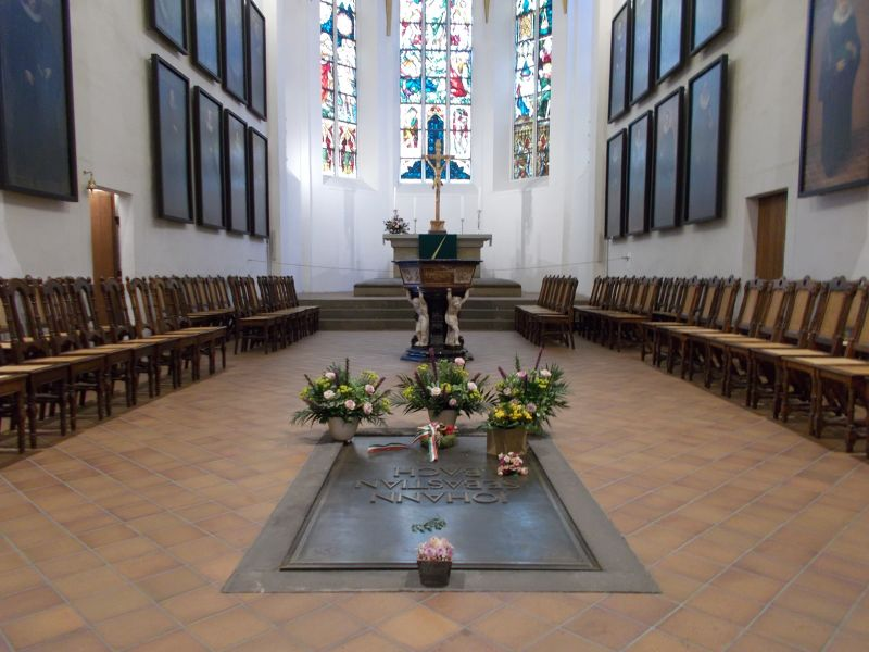 Bach's grave - Leipzig