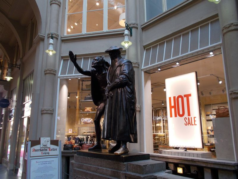 Faust statue - Leipzig
