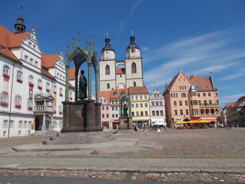The Market Square. - Wittenberg