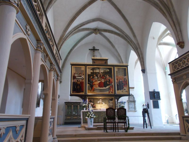 Inside the church - Wittenberg