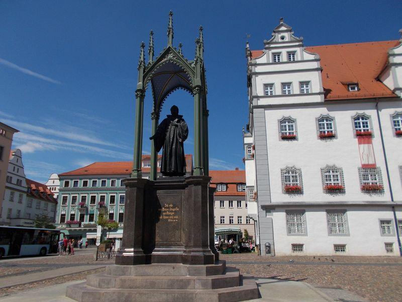 Phillip Melanchthon statue. - Wittenberg