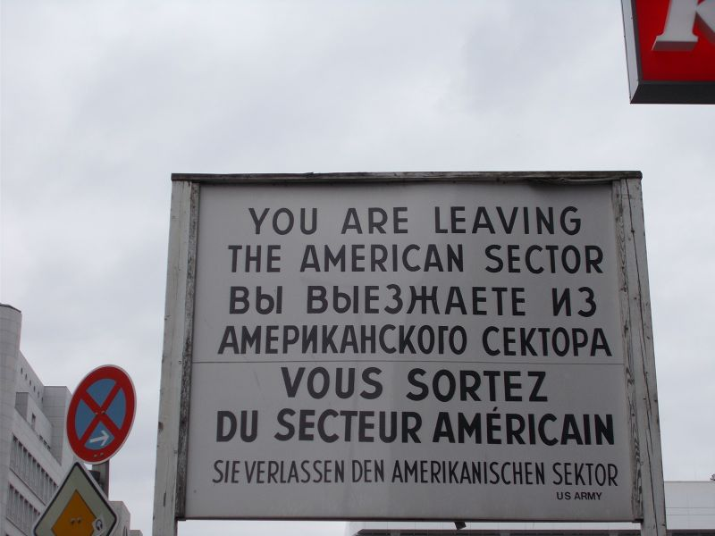 Replica sign. - Berlin