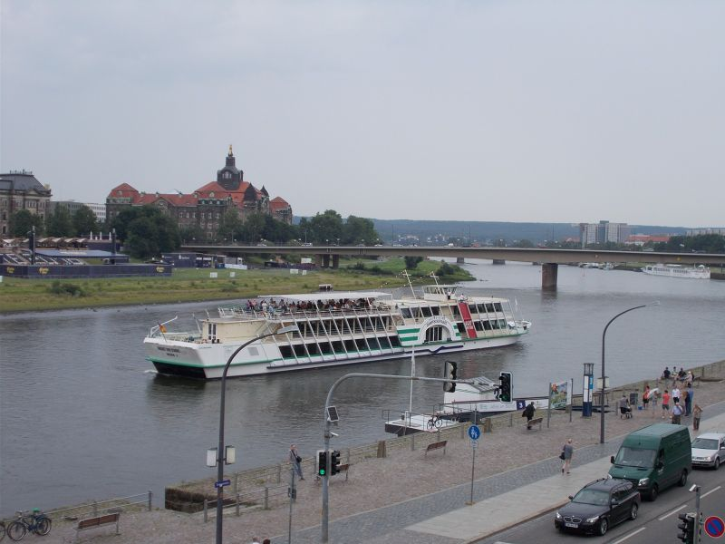 Views over the Elbe River. - Dresden