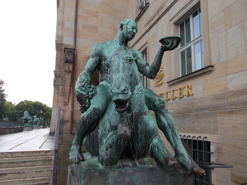 Bacchus on a donkey. - Dresden
