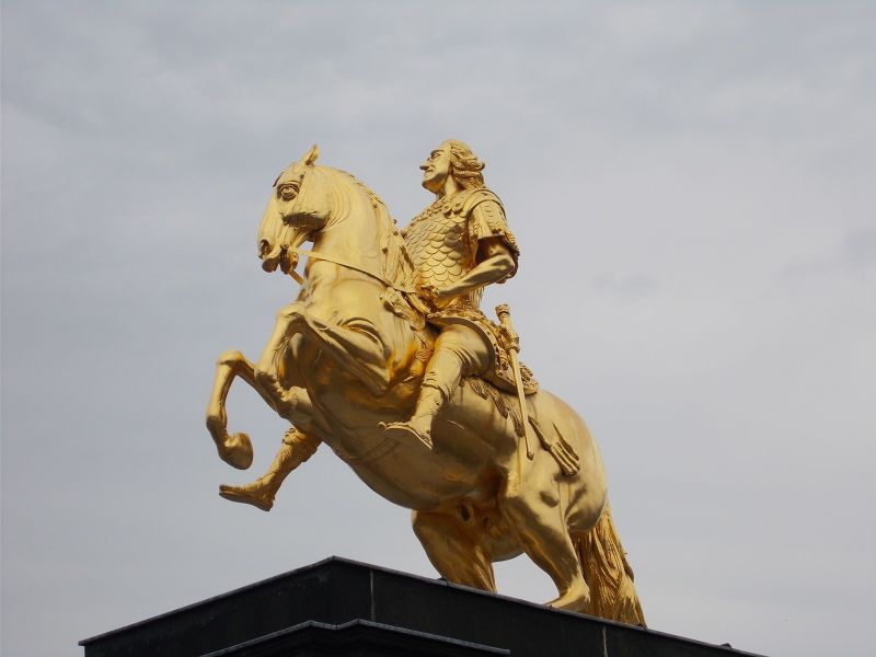 The Golden Rider. - Dresden