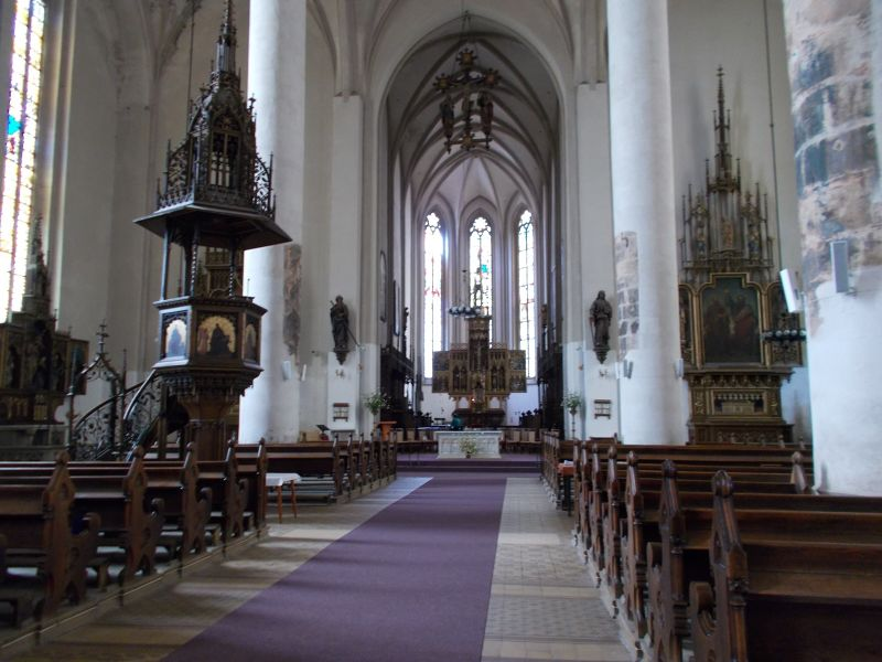 Inside the church - Cheb