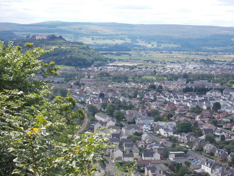 View from the monument. - Stirling