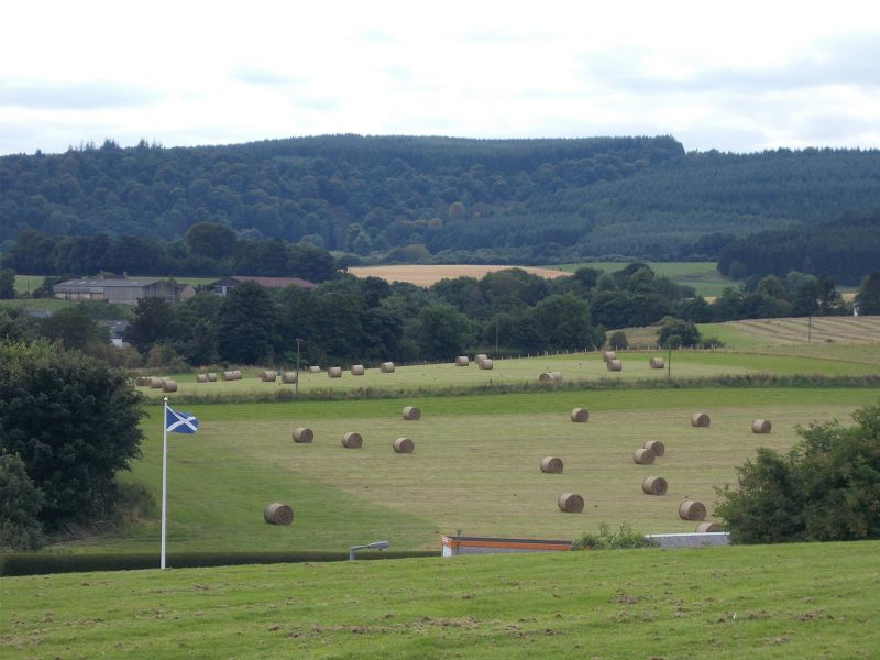 View over the battlefield. - Stirling