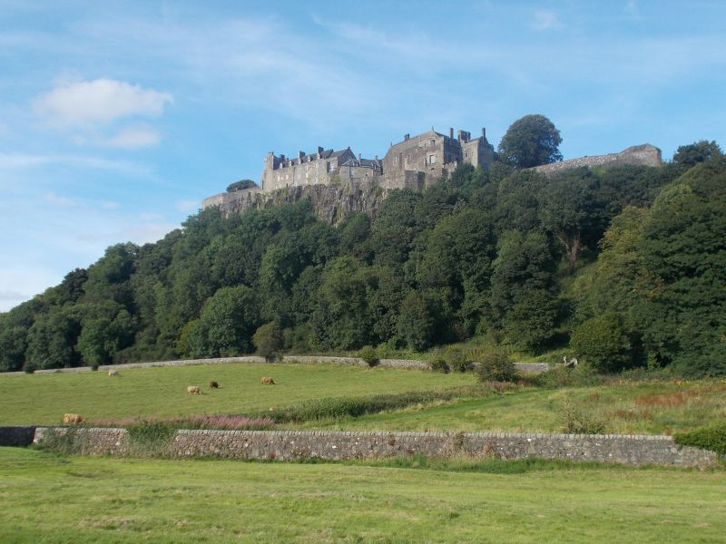 The castle from King's Park. - Stirling