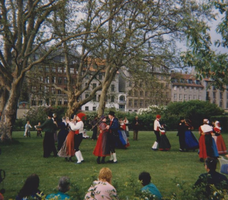 Folk Dancing at Rosenborg Castle - Denmark