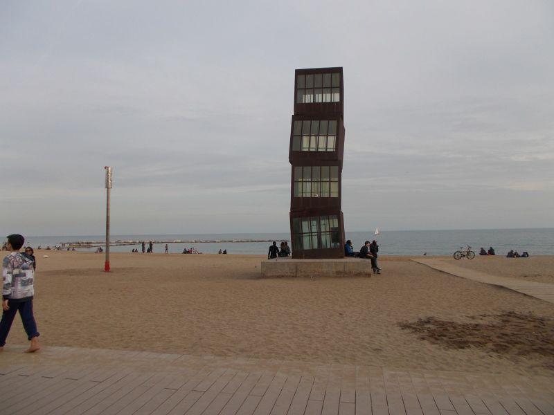 Homenatge a la Barceloneta by Rebecca Horn. - Barcelona