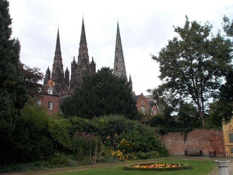 Lichfield Cathedral's distinctive three spires. - Lichfield