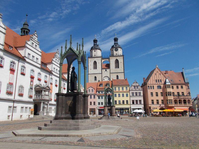Wittenberg Market Place. - Lutherstadt Wittenberg