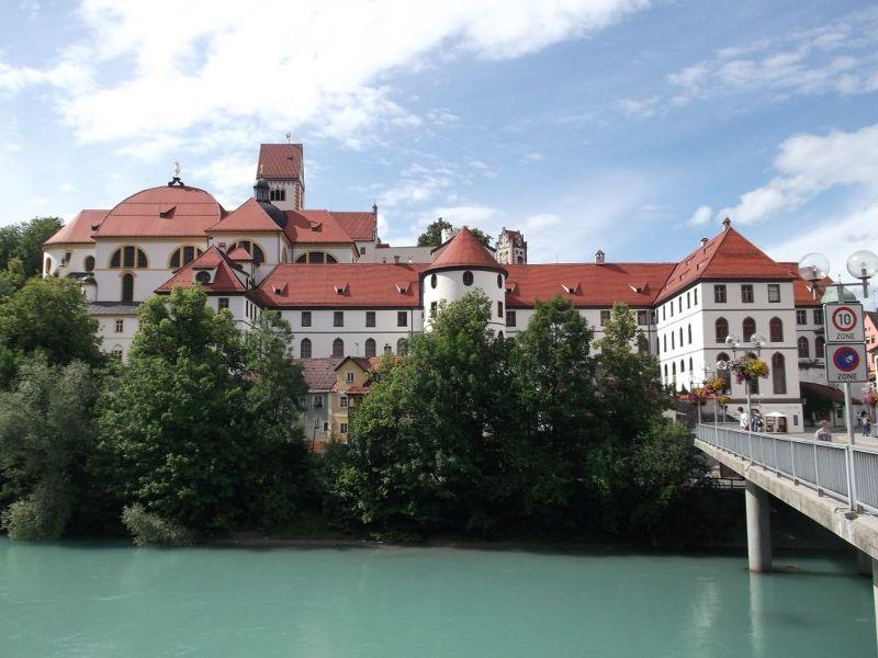 The old town viewed from the bridge. - Füssen