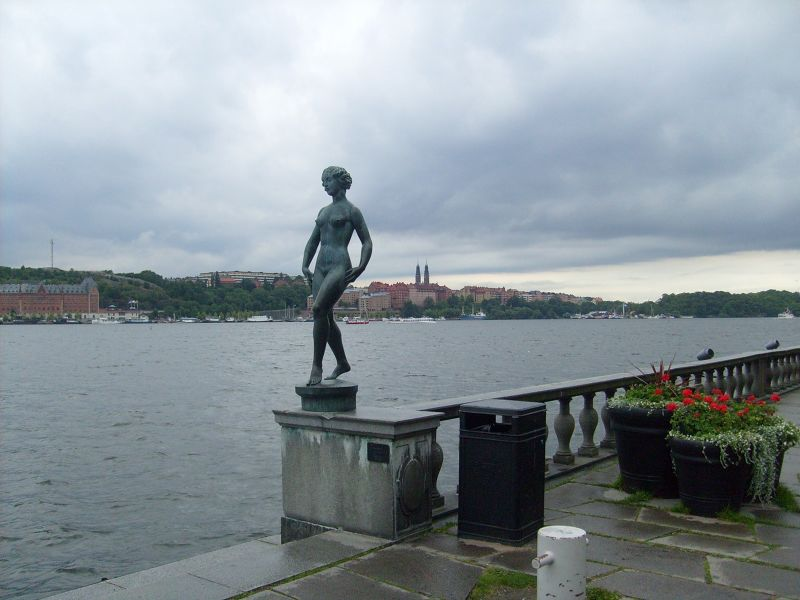 Dance Statue in front of the City Hall. - Stockholm