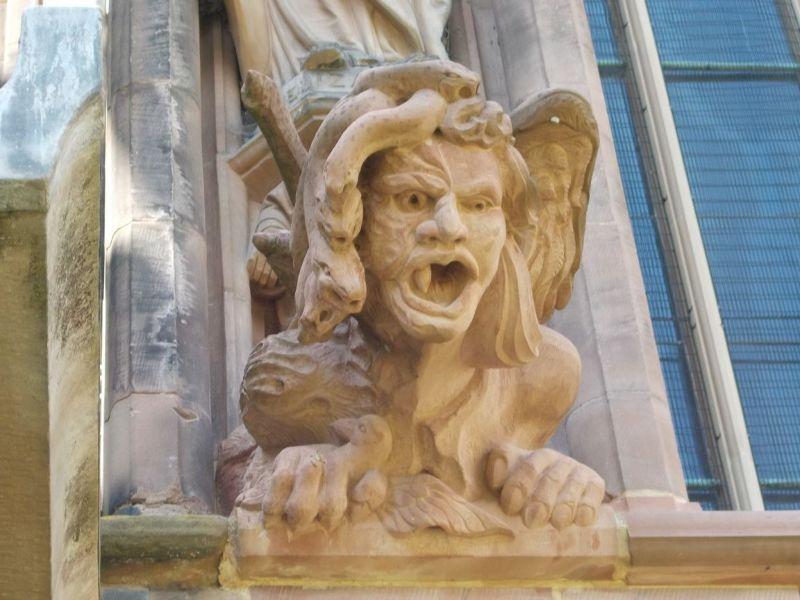 Gargoyle, Lichfield Cathedral. - Lichfield
