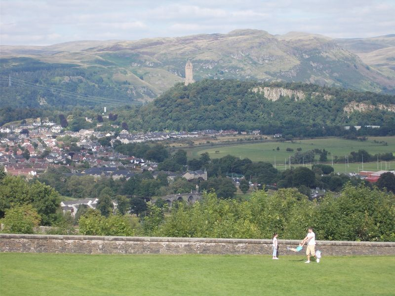 View towards Wallace Monument from castle. - Stirling
