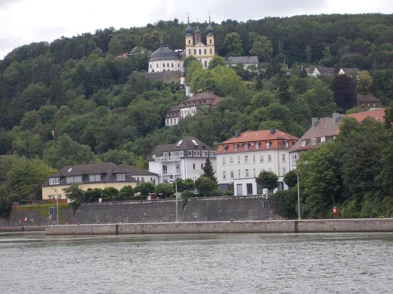 View of the Käppele from the town. - Würzburg
